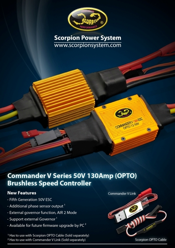 Scorpion Commander V 50v 130a ESC OPTO