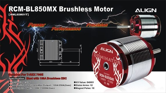 850MX Brushless Motor 540KV