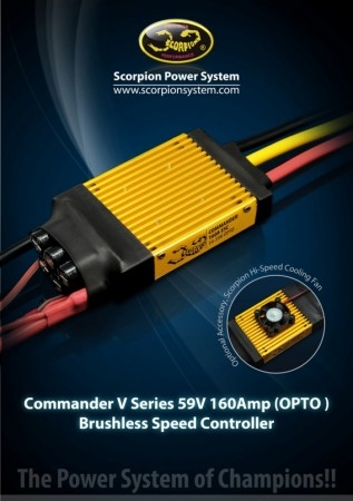 Новый Scorpion Commander V 59V 160A ESC (OPTO)