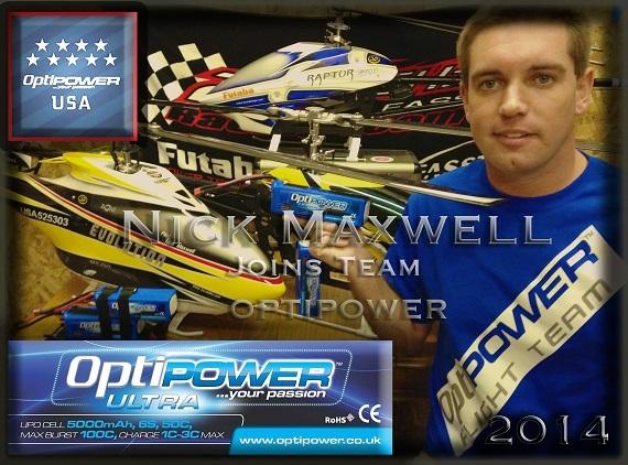OptiPower USA объявили о подписании Ника Максвелла!