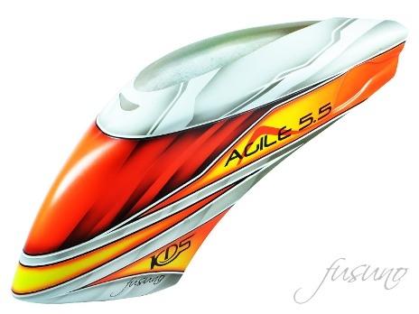FUC-AGL-5501 Fusuno Trueblood Airbrush Fiberglass Canopy KDS Agile 5.5 – цена $59.99